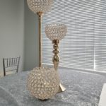 Gold Crystal Globe Stand