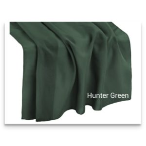 Chiffon Table Runner Hunter Green