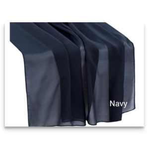 Chiffon Table Runner Navy