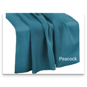Chiffon Table Runner Peacock