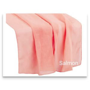 Chiffon Table Runner Salmon