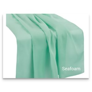 Chiffon Table Runner Seafoam