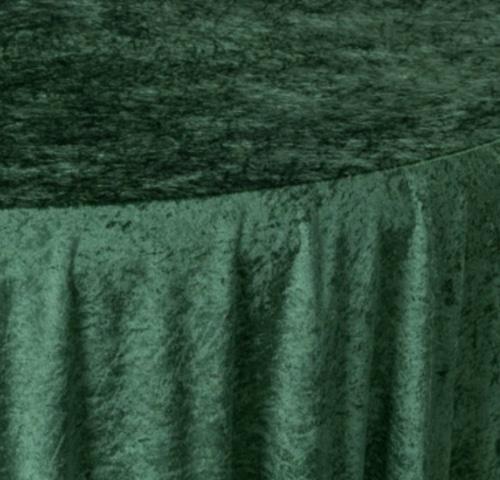 Forest Green Crushed Velvet Close Up