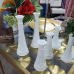 Large Collection Of Milk Bud Vases
