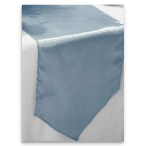 Satin Dusty Blue Table Runner