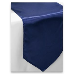 Satin Navy Blue Table Runner