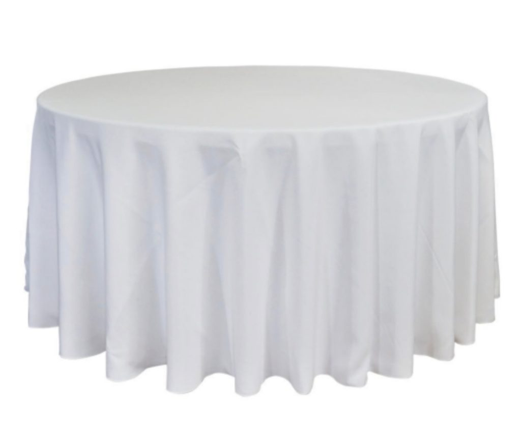 White Poplin Polyester